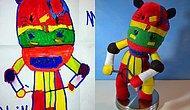 20 фотографий превращения детских рисунков в игрушки