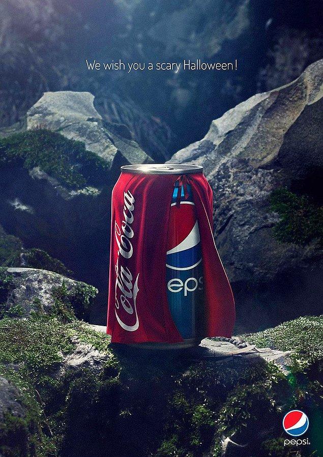 15. Pepsi: Korkunç Bir Cadılar Bayramı Diliyoruz!