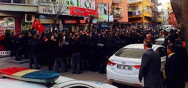 Aksaray'da 5 Bin Kişilik HDP Protestosunda Olaylar