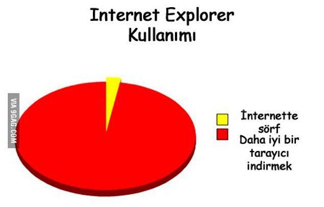 İnternet Explorer'ı Ne Amaçla Kullanıyorsunuz?