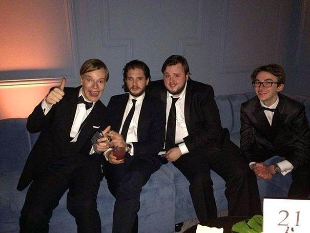Greyjoy, Jon Snow, Sam, ve Bran
