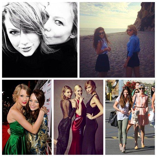 18 Fotoğrafla Taylor Swift ve Ünlü Arkadaş Grubu
