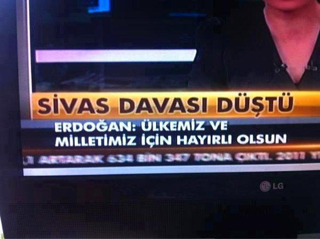 18) Sivas Katliamı Davası'nda dosyaları ana davadan ayrılan 7 firari sanık hakkındaki davanın 13 Mart'ta Ankara 11. Ağır Ceza Mahkemesi'nde görülen duruşmasında; 2 sanık yönünden ölmeleri, 5 sanık yönünden ise zaman aşımı nedeniyle davanın düşürülmesine karar verildi