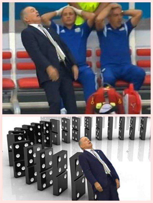 7. Arjantin hocasının kaçan gol sonrası verdiği tepki en komik anlardandı.