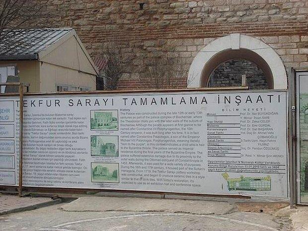 Tekfur Sarayı'nda 'Restorasyon Felaketi'