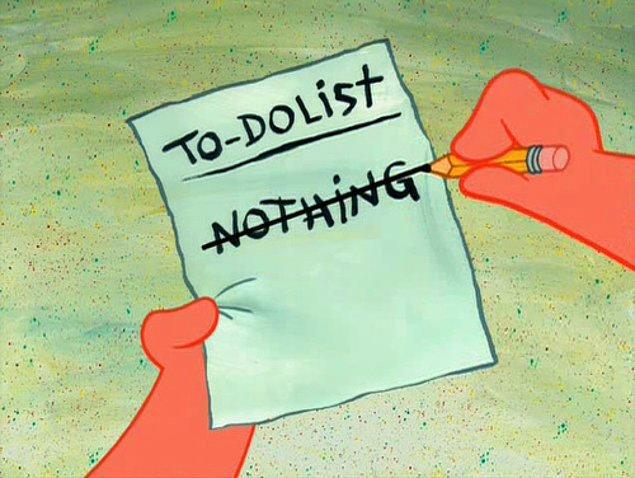 """10. Günlük """"yapılacaklar listesi."""""""
