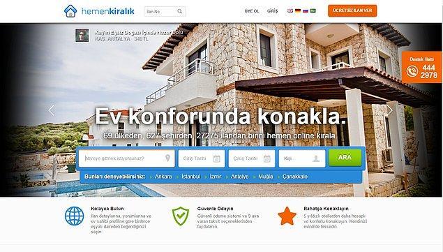 6. Günlük Kiralık Evlerin Sepeti - hemenkiralik.com