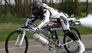 Saatte 333 km hızla giden roketli bisiklet [Video]