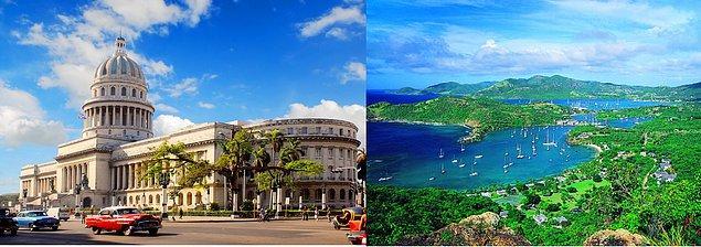 6. Jamaika'nın Kuzeyinde bulunan komşu ülke ' KÜBA ' ve harika şehirleri Santo Domingo , Havana vs.