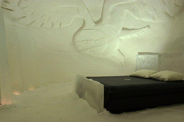 17. Ya da buzdan yapılmış bir otelde.