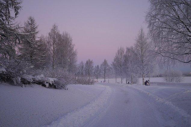 35. Çünkü Rovaniemi'de kuzey kutbu medarından geçebilirsiniz.