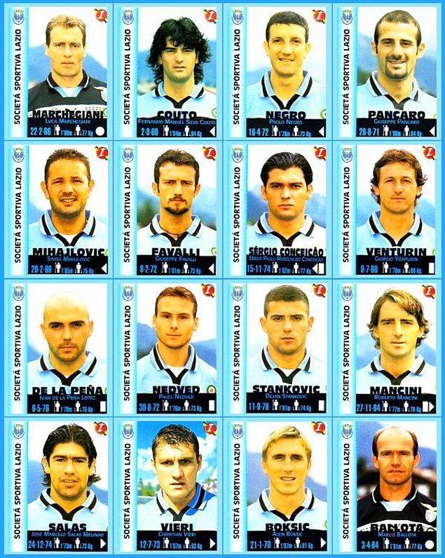8. Aynı sezon Lazio da Parma gibi efsane bir kadroya sahipti, yok yoktu