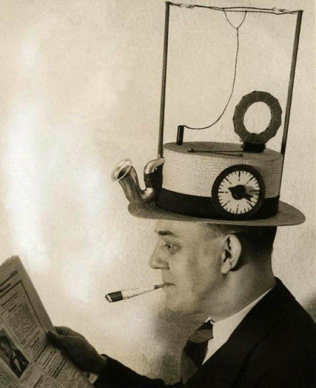 7. Radyo-çalar şapka