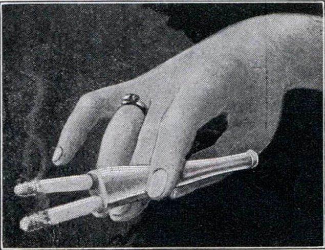12. Çiftli sigara ağızlığı