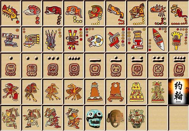 """13. Aztek dili """"N'ahuatl"""" hiyeroglif gibi resimlerden oluşmaktaydı."""