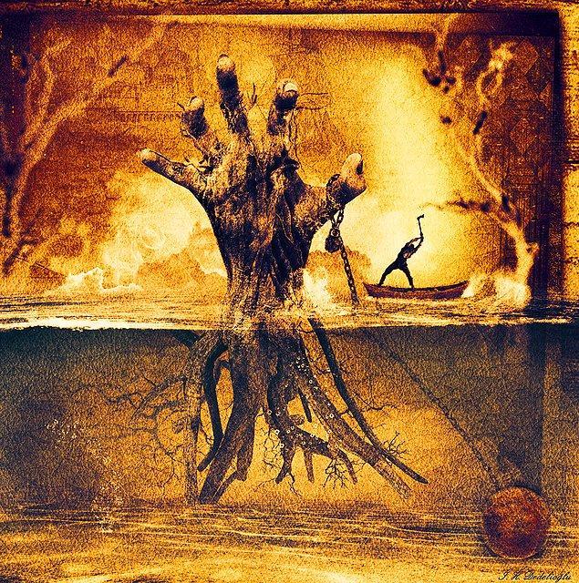 14. ODUNCU: Sandalda bulunan oduncunun amacı ağacı kurtarmak mı yoksa katletmek mi?