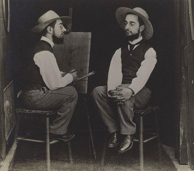 5. Kendi portresini yapan adam, Maurice Guibert, 1900