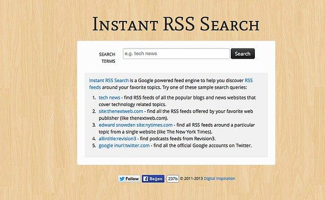 2. Instant RSS Search