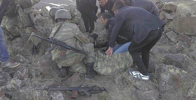 'Vatandaşlarımızın yaralı personelimize yardımı takdire şayan'