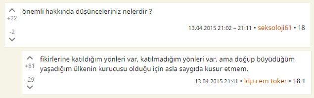 8. Atatürk hakkında düşünceleriniz?
