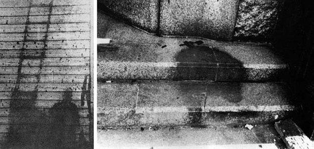 13. Hiroshima'ya atılan atom bombasından sonra buharlaşan insanların gölgeleri.