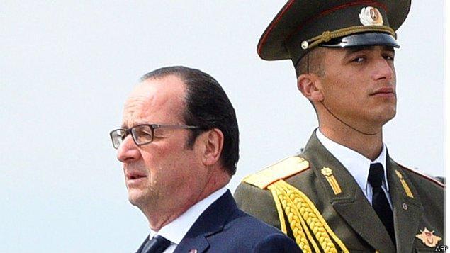 Hollande: Ermeni soykırımı kurbanlarının anısı önünde saygıyla eğiliyorum