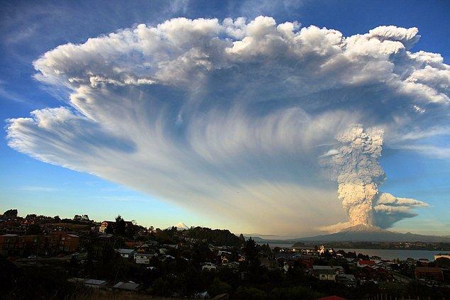 Yine bir güney şehri, Puerto Montt'dan, 22 Nisan'da çekilen fotoğraf.