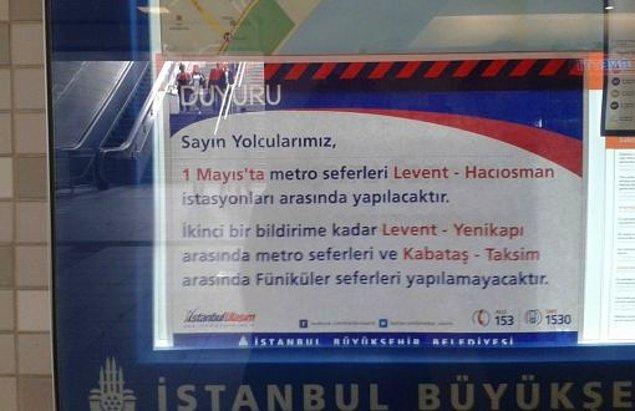 Taksim'e Metro yok