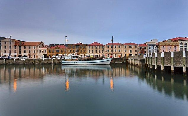 Hobart, the biggest city of Tasmania is an old port city with lively nightlife and art events.