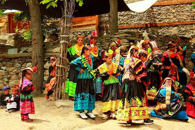 The Kalash, a small ethnic group in Pakistan is an interesting village for tourist to experience life without electricity, phones, and newspapers.