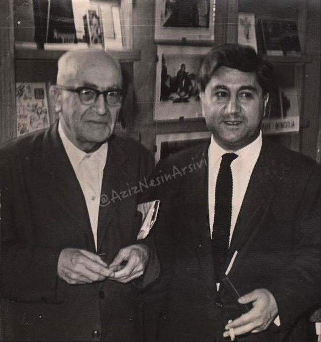 22. Çıkabildiği ilk yurtdışı gezisinde, SSCB'de, Zekeriya Sertel'le birlikte. 1965.