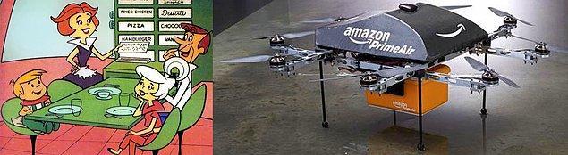 15. Drone ile yemek servisi