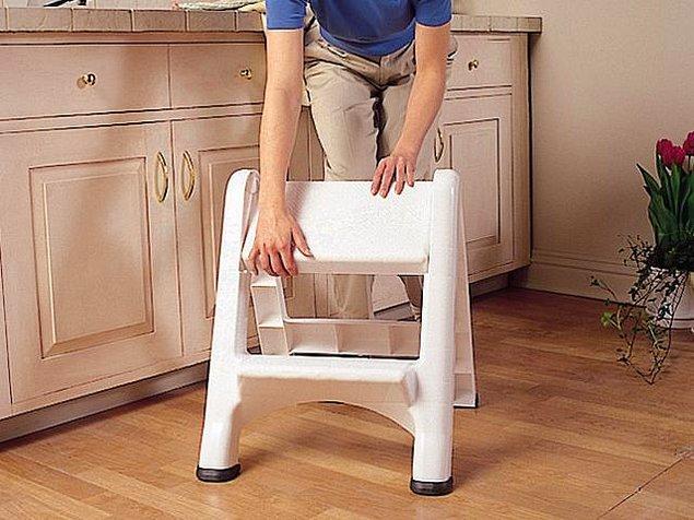 3. Mutfaktaki üst raflara ulaşmak için merdiven kullanıyor musun veya merdiven olsa iyi olur diyor musun?