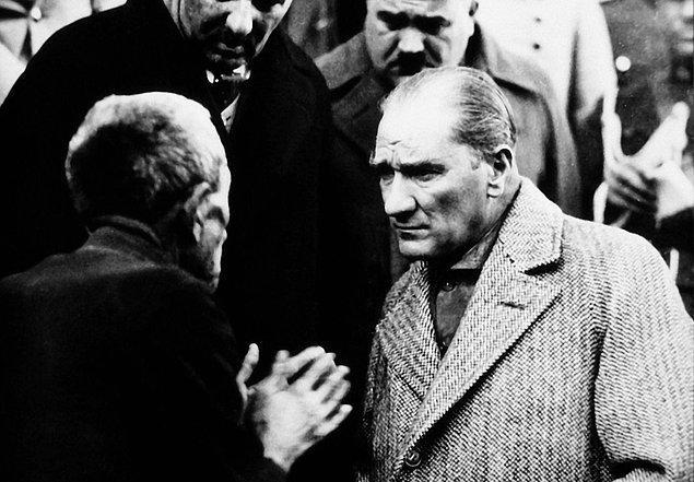 Atatürk bu mektup üzerine, devrin Başbakanı İsmet İnönü'ye telefon ederek: