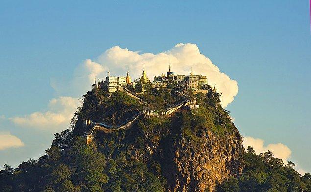 7. Taung Kalat; Mount Popa, Myanmar