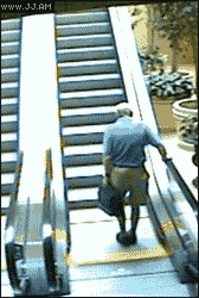 Гифка падение с лестницы
