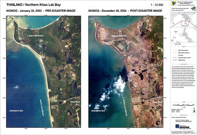 Bölgede tsunamiden önce ve sonrası