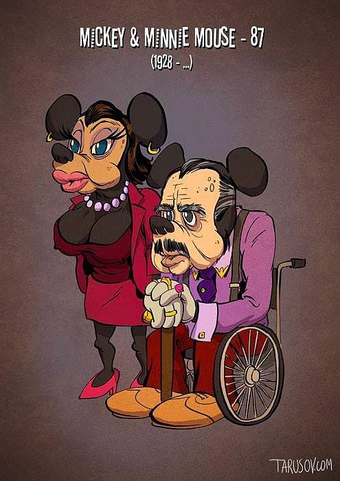 Как бы выглядели герои мультфильмов, если бы они старели вместе с нами