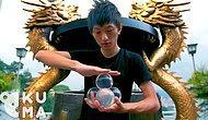 Завораживающее видео: стеклянные шары оживают в руках этого парня!
