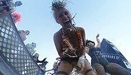 Burning Man Festivalinin Ortasına Düşen Drone Gözünden Çöl Festivali