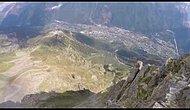 Невообразимый, захватывающий дыхание полет с горы в вингсьюте
