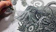 Эти волшебные рисунки созданы из миллионов точек!!!