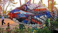 Произведения искусства, сделанные из мусора