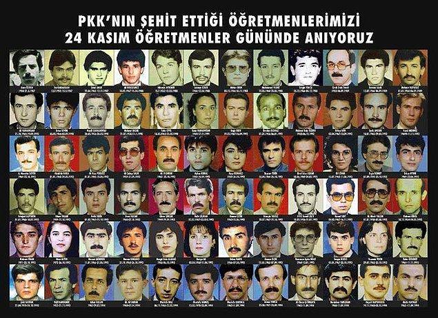 100'den fazla öğretmeni katleden PKK, yüze yakın cana kıymakla kalmadı, eğitim alanında da kapanması zor bir yara açtı.