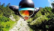 Впечатляющий прыжок в вингсьюте с высоты 2.500 метров