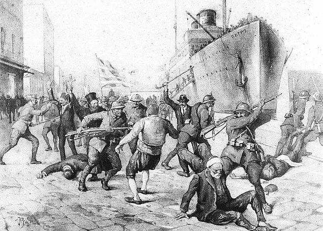 12. Neticede, Yunan askerleri 15 Mayıs 1919'da İzmir'e ayak basarlar. Ve hemen akabinde bir katliam başlatırlar.