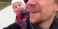 """Малышка заливается смехом при слове """"папа"""""""