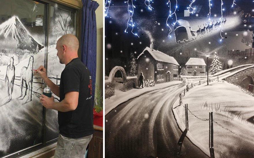 рисунок на стеклах снегом пупке лечится