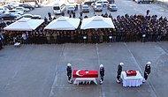 Çınar'daki Saldırıda Şehit Olan Polis ve 4 Yaşındaki Kızı İçin Tören