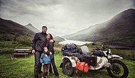 Семья с маленьким ребенком проехала 41 страну на мотоцикле Урал